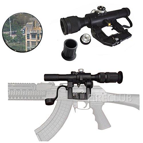 Fireclub Tactical russo Posp 4 x 26 Svd rosso illuminato Sniper scope  gommata con supporto mirino oculare Extender per Svd Dragunov rifle AK47  ak-47