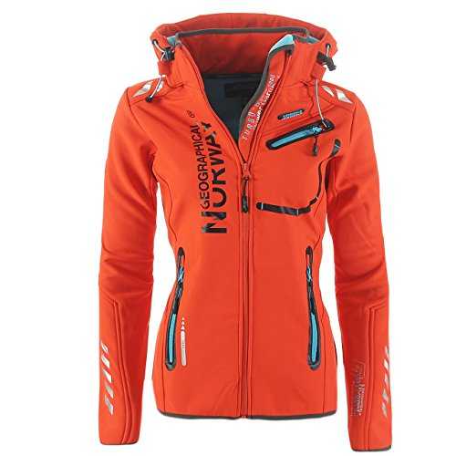 Geographical Norway Damen Softshell Funktions Outdoor Regen Jacke Sport Test