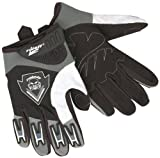 Roleff Racewear Motocross Handschuhe für Kinder, Schwarz/Silber, S