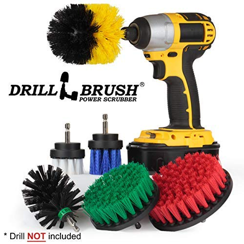 The Ultimate - Drill Brush - Cleaning Supplies - Kit - Bathroom Accessories - Shower Cleaner - Bath Mat - Kitchen Accessories - Grout Cleaner - Dish Brush - Stove - Oven - Sink - Outdoor - Scrub Brush -