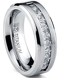 Amazoncouk Titanium Rings Men Jewellery