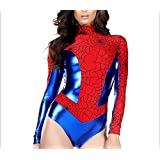 Yeesn Super Hero Spiderman Wonder Woman Sexy de la mujer sexy Halloween cosplay disfraz talla única (8-10)
