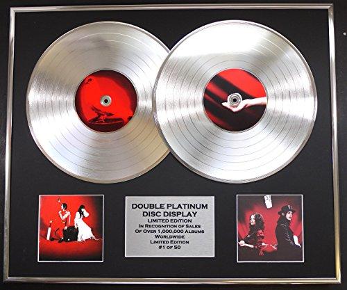 WHITE STRIPES/DOPPO CD PLATINO DISC RECORD/Edizione LTD/Certificato di autenticità/ELEPHANT & GET BEHIND ME SATAN