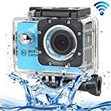 ALLSHOPSTOCK (#33) H16 1080P Portable WiFi Waterproof Sport Camera, 2.0 inch Screen, Generalplus 4248, 170 A+ Degrees Wide Angle Lens, Support TF Card(Blue)
