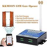 Kkmoon GSM - Abridor de puerta smart , control remoto on/off, llamada y SMS gratis. Soporta 850/900/1800/1900MHz