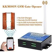 Kkmoon GSM - Abridor de puerta smart, control remoto on/off, llamada y SMS gratis. Soporta 850/900/1800/1900MHz