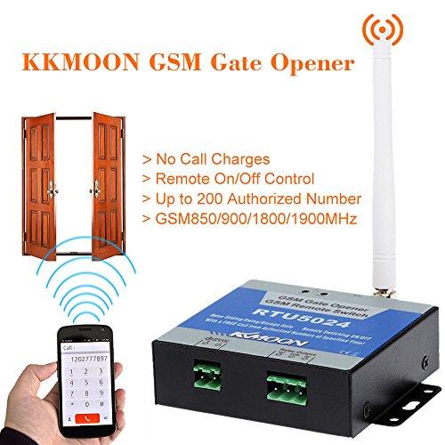 KKmoon GSM Tür Tor Opener Remote Ein / Aus-Schalter Gratis Anruf SMS Führungsunterstützungs 850/900/1800 / 1900MHz