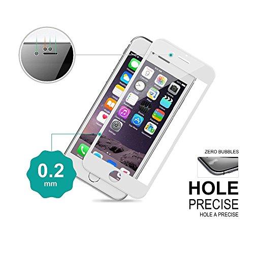 frixie (TM) per Iphone77Plus/colorata copertura completa 9H protezione per lo schermo in vetro temperato 3d Touch temperato HD Pellicola Protettiva 4.75.5pollici Black Iphone 7 Plus White Iphone 7
