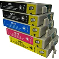 5 CiberDirect High Capacity Compatible Ink Cartridges for use with Epson WorkForce WF-7015 Printers.