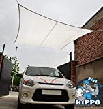 Hippo 2in1 Waterproof Rain Outdoor Shade Sail - White Color - 1 Nos