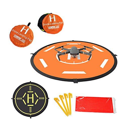 Mekingstudio 80cm Pista de Aterrizaje Landing Pad Fast-Fold Universal Portátil para Drone Dron RC Helicóptero dji Mavic Pro Spark Phantom 2 3 4 4 Pro Inspire 1 2 GoPro Karma 3DR Solo Parrot Yuneec
