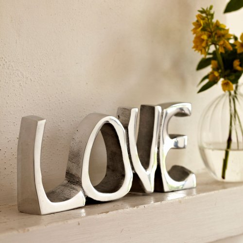 Stainless Steel 'LOVE' Sign