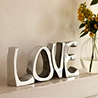 [Patrocinado]Objeto decorativo con la palabra Love (acero inoxidable, 200 x 85 mm)