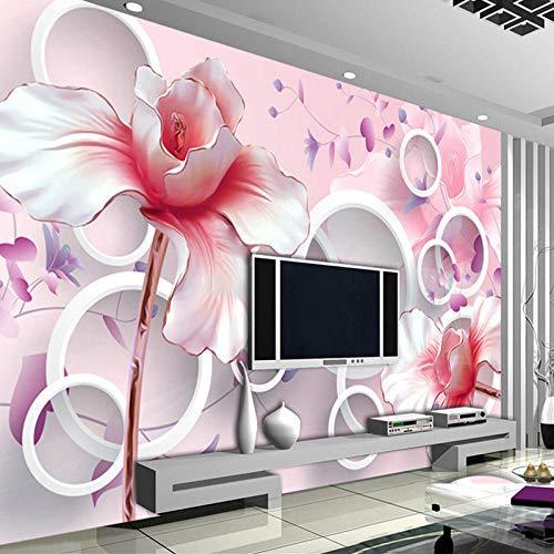BYUVZHJ Papiers Peints Muraux pour Le Salon 3D Rose Fleurs De Magnolia Murales TV Fond Peinture Murale Photo Wallpaper @ 350 * 250
