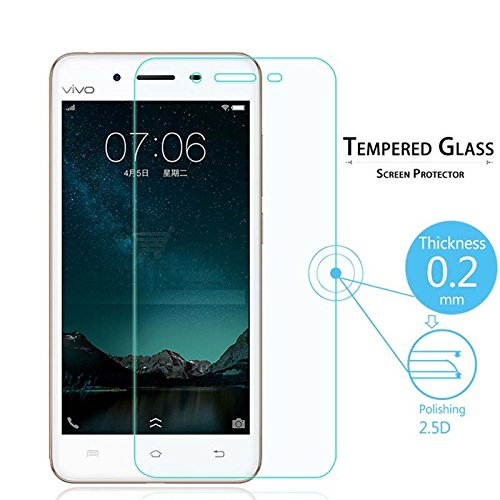 Royal Touch (TM) Vivo V3 TEMPERED GLASS SCREEN PROTECTOR / BUBBLE FREE APPLICATION / HOLE FOR FRONT PROXIMITY SENSOR / NO HANGING PROBLEM / HIGH QUALITY JAPANESE AGC GLASS MATERIAL / 0.3MM SLIM THICK / 2.5D CURVED EDGE