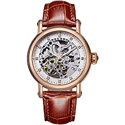 Automatic mechanical watches/ strap waterproof watch/Fashion cut watch-J