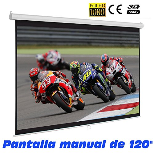Pantalla de proyeccion Manual de 120