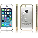 iProtect Schutzhülle Apple iPhone 5 5s SE Hülle Fairy Style transparent gold