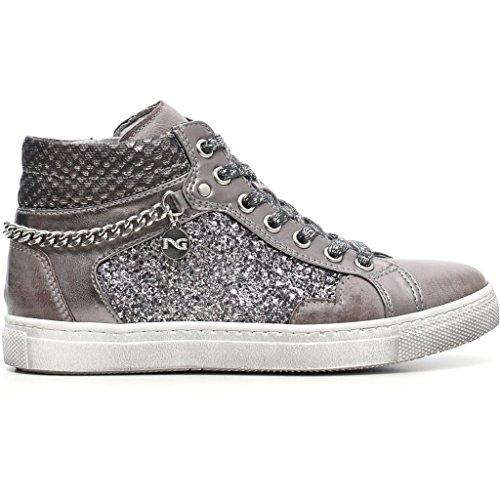 Nero Giardini Junior Sneaker in Pelle Bambina A631730F - 104 (34, Brandon Grafite)