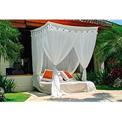 Riesiger klassischer Betthimmel. Moskitonetz Mokito Big Sky 200. Baldachin und Mückenschutz für Doppelbetten. Perfekter Mücken- und Insektenschutz.