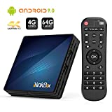 Android TV Box【4G + 64G】, NinkBox Android 9.0 TV Box N1 Max RK3318 Quad-Core 64bit Cortex-A53, unterstützt Bluetooth 4.0/WLAN 2.4G/5.0G /4K HD/ USB 3.0/ HDMI 2.0a Smart tv Box Android Set-top-Box