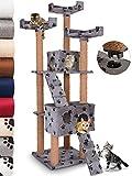 Leopet Albero per gatti tiragraffi cuccia gatto palestra gioco per gatti altezza ca. 173 cm grigio con zampette