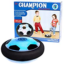 Vinsani LED Gliding Ball Fun Indoor Soccer Air Floating Football with Glide Base Sliding Ball