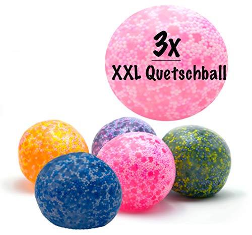XL Anti-Stress-Ball | sehr robust und hochwertig, platzt Nicht | für Kinder und Erwachsene | 7 cm Durchmesser | Rainbow Knetball Knautschball | für das Büro oder Kindergeburtstag ()