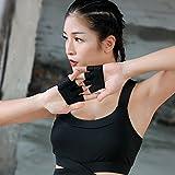 Yoga guanti–Guanti sport fitness four-finger uomini e donne Outdoor allenamento fitness Aerial yoga antiscivolo guanti traspiranti estate, Nero, L