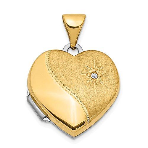 Gold 15 mm wendbar Diamant ()