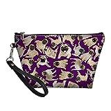 Coloranimal - Neceser de piel con cierre de cremallera para mujer, bolso de mano de viaje