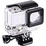 Suptig de remplacement boîtier étanche boîtier de protection pour Gopro Hero 4, Hero 3+, Hero3à l'extérieur Sport Camera pour une utilisation sous l'eau–Résistant à l'eau jusqu'à 39,9m (40m)