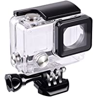 Suptig Replacement Waterproof Case Protective Housing for GoPro Hero 4 Hero 3+ Hero3 Outside Sport Camera For Underwater Use Water Resistant up to 147ft (45m)