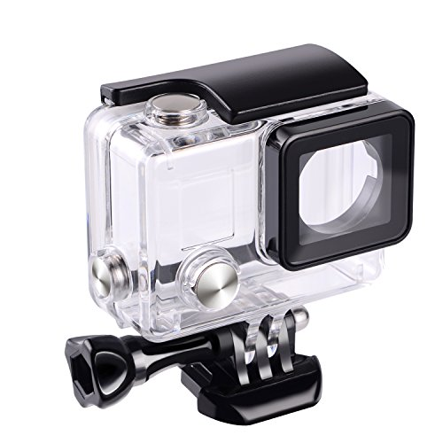 Galleria fotografica Suptig sostituzione impermeabile custodia protettiva per GoPro Hero 4Hero 3+ HERO3macchina fotografica di sport esterni per uso subacqueo impermeabile fino a 44,8m (45m)