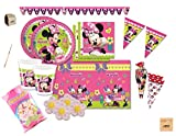 IRPot - KIT N 51 COORDINATO COMPLEANNO MINNIE MOUSE TOPOLINA DISNEY +MARSHMALLOW