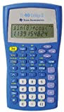 Texas Instruments TI 40 College II Poche Basic calculator Bleu - calculatrices (Poche, Basic calculator, Bleu, boutons, Batterie/Pile, CR2025)...