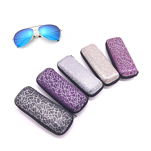 Gläser Box Zipper Stripe Unisex Sonnenbrille Schutzhülle Portable Container