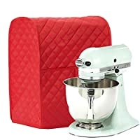 Tradico® Dust Proof Storage Protective Cover for Kitchen Food Mixer, Easy Clean, Red