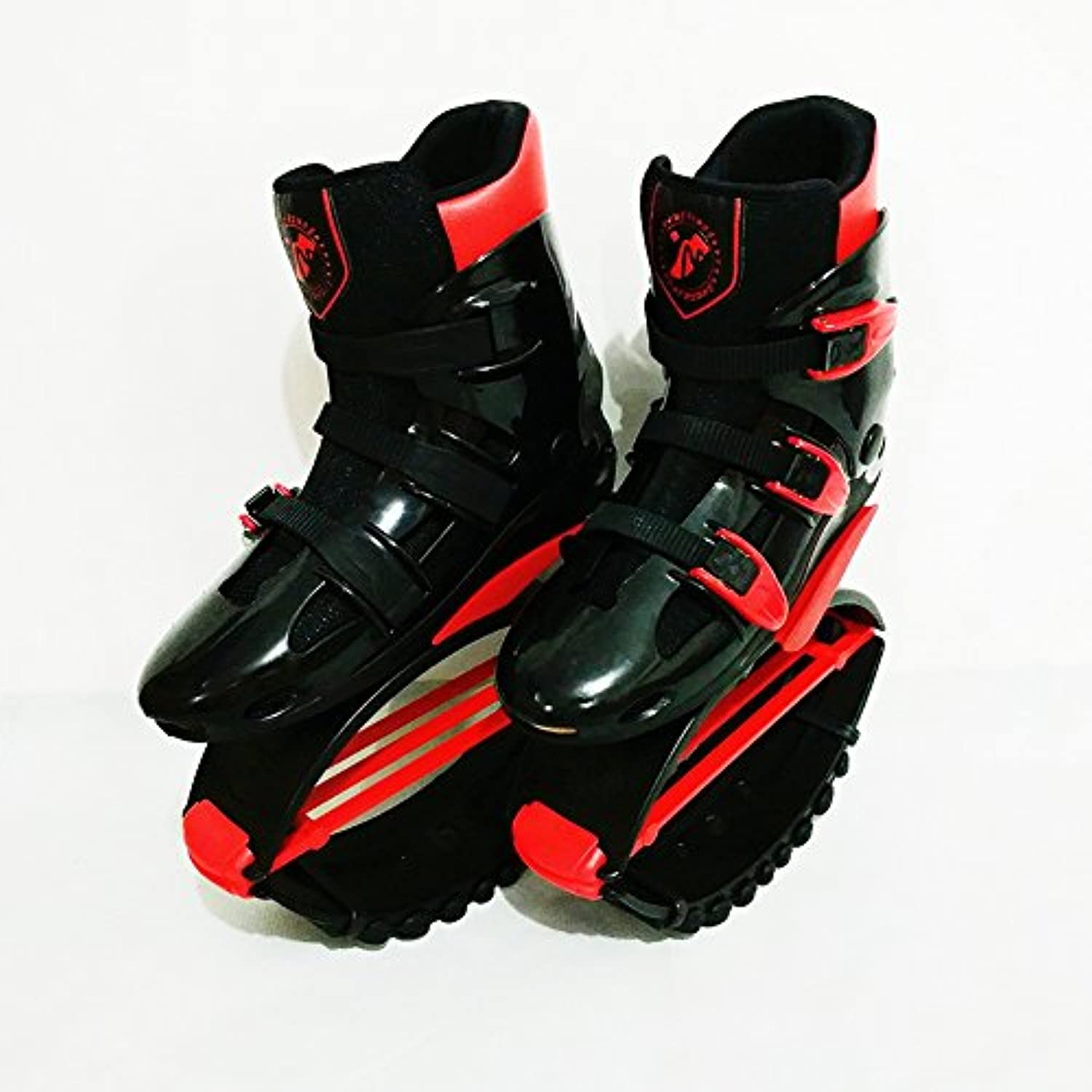Saltar Rebotar Zapatos Unisex Jumping Boots Bounce Outdoor Sports,Red,L