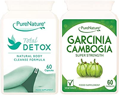 Garcinia Cambogia & Total Detox Combo Best 5 Star High Performance Diet & Weight Management Pills 120 Capsules Providing 1-2 Month Supply + FREE 2016 Fast Start Diet Plan + FREE UK DELIVERY from Distributed By Be-Beautiful-Online