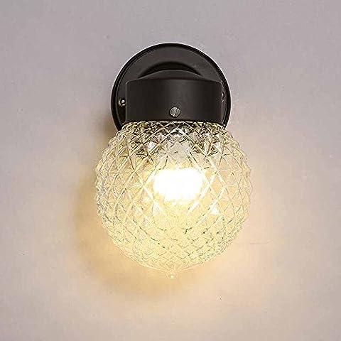 Americana - estilo sencillo pueblo de la colina redondeada lámpara de pared de la habitación lámpara de pared del pasillo de entrada [Efficiency: A+]