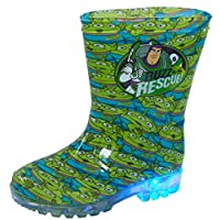 Disney Toy Story Light Up Wellington Boots Kids Buzz Aliens Rain Snow Flashing Lights Unisex Wellies