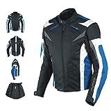 Giacca Lady Donna Tessuto Cordura Moto Protezione Manica Staccabile Blu XL