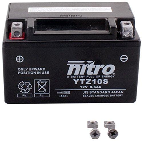 Nitro YTZ10S-N - Batteria ermetica con tecnologia AGM, per moto