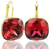 Ohrringe mit Kristalle von Swarovski® Rot Gold NOBEL SCHMUCK