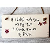 MadeAt94 Personalised Mums Friend Plaque Mothers Day Birthday Gift