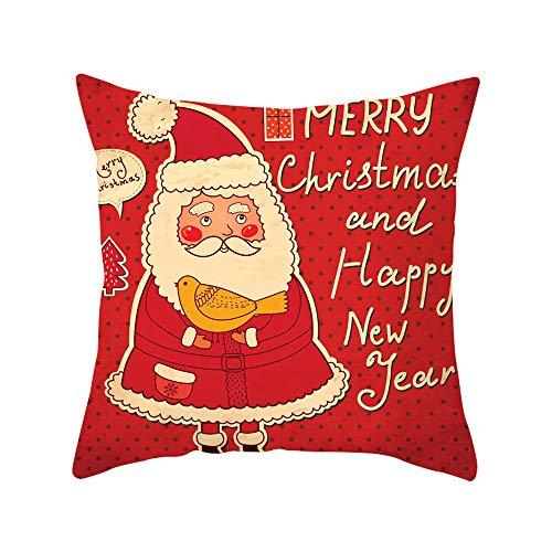 squarex Kissenbezug, 45 x 45 cm, Weihnachtsdekoration, Büro, Sofa, Auto, Taille, Überwurf, Kissenbezug, quadratisch, antiallergen D