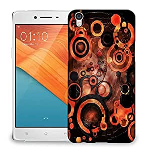 Snoogg Abstract Orange And Black Pattern Designer Protective Back Case Cover For OPPO R9 PLUS