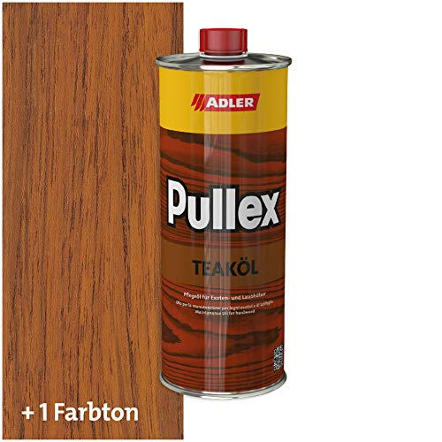 ADLER Pullex Teaköl Holzöl Innen & Außen Farbe Teak Braun 1l