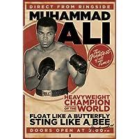 Pirámide Internacional vintage Muhammad Ali Maxi póster, multicolor, 61 x 91.5
